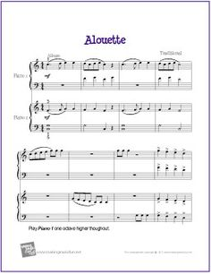 Happy birthday free sheet music for trumpet or clarinet and piano