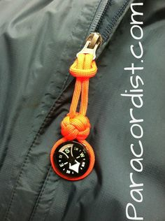 Paracordist Creations LLC - 25mm liquid filled compass paracord fob