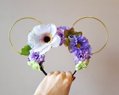 Check out this item in my Etsy shop https://www.etsy.com/uk/listing/465097971/rapunzel-inspired-floral-wire-mouse-ears