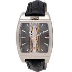 ShopWorn Watches ™ Corum Golden Bridge Automatic, 51.8 mm x 37.2mm, 13.7mm Thick, White Gold Case,Grey Dial, Limited Edition of 200 Pcs, Hour, Minutes, Sapphire Crystal, Skeleton Dial, Transparent CaseBack, Transparent Sides of Case, Corum Caliber CO 113, 26 Jewel Movement, 28,800vph,40 Hour Power Reserve, Variable Inertia Balance, Baguettte with Golden Bridges and mainplate, Linear Winding with Sliding Platinum Weight. Includes Corum Boxand Papers, Includes ShopWorn 2 Year Warranty
