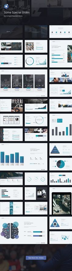 Event & Report Presentation Series 02: Business Get a modern Presentation that is beautifully designed and functional. This slides comes with infographic elements, charts graphs and icons... Download here: https://graphicriver.net/item/business-theme-event-report-theme-series-v2/19432001?ref=alena994