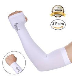 L Louis Garneau Arm Coolers Sizes S UV Sun Protective Sleeves M White