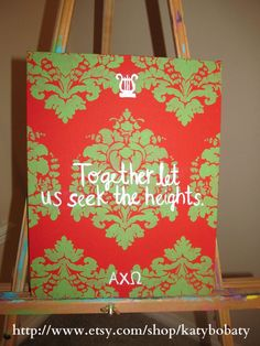Alpha Chi Omega painting from Kait's Creations