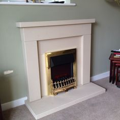 Dura stone fireplace with electric fire