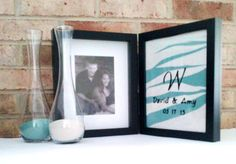 Double Hinged Sand Ceremony Frame with FREE by HandmadeByLeeAnn, $64.99