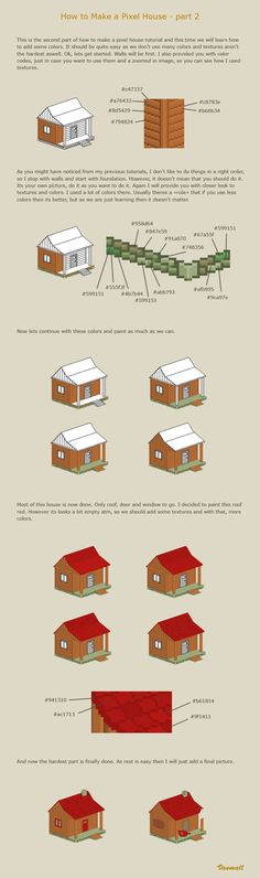 How to make a pixel house 2 by vanmall.deviantart.com on @deviantART