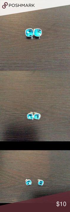 Aqua blue square earrings Cute square aqua blue earrings for pierced ears. Never been used. Avon Jewelry Earrings