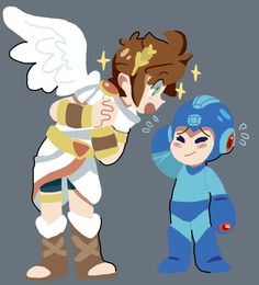 Pit and mega man, yet they will still be shooting whatever weapons they have