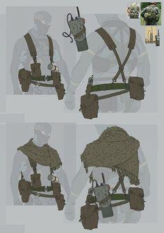Metal Gear Online Concept Art by A.J. Trahan