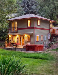 This small home has a footprint of only 357 square feet but is still quite roomy considering is has two levels.