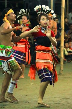 """""""Kabui Naga Dance"""" is a tribal dance performed in the Manipur State of India"""