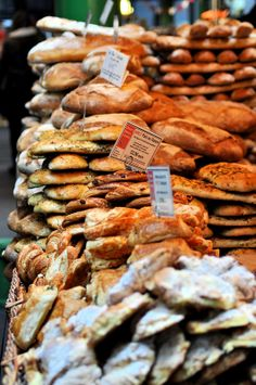 Bread Stall, Borough Market, London. Every day that I am in London all month....