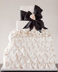 La torta perfecta para una boda chic!