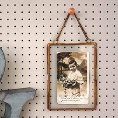 Antique Brass Or Silver Hanging Photo Frame by Posh Totty Designs Interiors, the perfect gift for Explore more unique gifts in our curated marketplace. Hair Keepsake, Double Photo Frame, Clip Frame, Photographs And Memories, Velvet Hangers, Hanging Photos, Home And Living, Living Room, Portrait Photo
