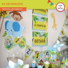 Selva: decoración de fiesta para imprimir - Todo Bonito