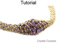 Crystal Cocoon Russian Spiral Stitch Tubular Necklace Beading Pattern Tutorial | Simple Bead Patterns