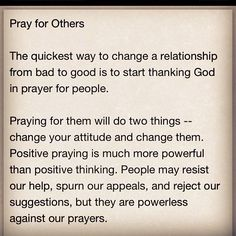 Pray for others...