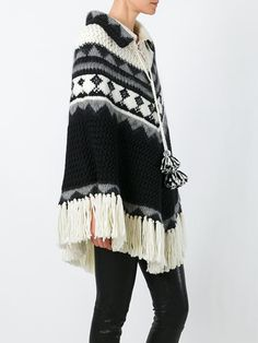 Saint Laurent knitted ponchoknitted poncho £1,565.00