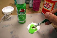 This is a great way to make glass clings with mod podge.  -- thank you modpodgerocksblog.com!!