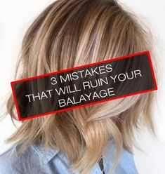 When your balayage has gone bad, there's nothing more frustrating than not knowing what went wrong. Here are three mistakes that'll ruin your balayage. Balyage Short Hair, Bayalage Brunette, How To Bayalage Hair, Blonde Balayage, Baylage, Blonde Hair, Ombre Hair At Home, Diy Ombre Hair, Diy Balayage At Home