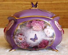 Lena Lius ENCHANTED WINGS Jeweled BUTTERFLY Music JEWELRY Trinket BOX Ardleigh