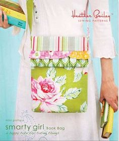 This bag is quick, fun and easy to make and is just the right size for toting sketchpads, coloring books, or your next good read.