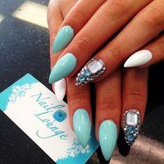 #blue #white maybe not stilleto