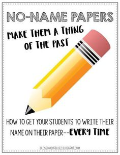How to get your students to write their name on their paper every time. Say goodbye to no-name papers.