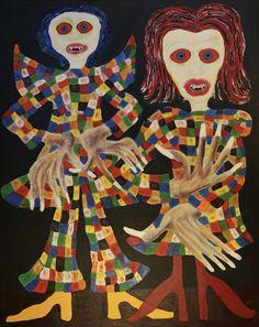Vampire couple/Maarit Korhonen, 92cm x 73cm, acrylic, oilsticks, oil, graphite, canvas Couple Painting, Fantasy Paintings, Original Art For Sale, Artists Like, Figurative Art, Artwork Online, Buy Art, Saatchi Art, Disney Characters