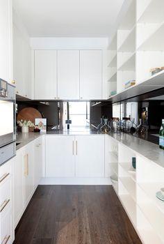 The Block Apartment Four - Julia & Sasha - Freedom Kitchens Kitchen Ideas 2018, Kitchen Trends, Kitchen Benchtops, Kitchen Cabinetry, Splashback, Kitchen And Kitchenette, Kitchen Pantry, The Block Kitchen, The Block 2016