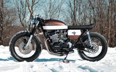 1973 Honda CB 750 Four Cafe Racer BratStyle Cafe from Vermont #motorcycles #caferacer #motos   caferacerpasion.com