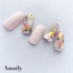 Pink Nail Art, Floral Nail Art, Pink Nails, Cute Nails, Pretty Nails, Sunflower Nail Art, Nail Art Instagram, New Years Nail Art, Nail Art Techniques