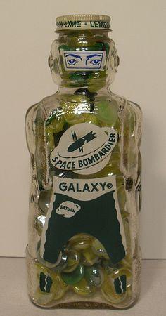 Space Bombadier Lemon Lime 1950s Toy Bank VINTAGE GLASS SODA Flickr