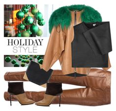 """Holiday Style: Leather Pants"" by sofi-danka ❤ liked on Polyvore featuring Gucci, CÉLINE, Marni, Nicholas Kirkwood, J.W. Anderson and holidaystyle"
