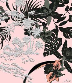 If you love Flower Prints, you should follow this Instagram | Trendland Love Flowers, Textile Design, Flower Prints, Planting Flowers, Print Patterns, Instagram, Collages, Florals, Tropical