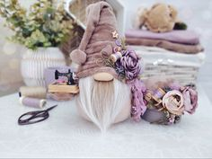 What Is A Gnome, Scandinavian Countries, Craft Corner, Christmas Gnome, Pin Cushions, Gnomes, Old Things, Embroidery, Ornaments