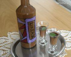 Čokoládový likér Energy Drinks, Rum, Beverages, Canning, Tableware, Food, Dinnerware, Tablewares, Essen