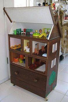 Dollhouse made out of a bureau