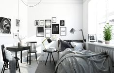 Scandinavian style is one of the most popular styles of interior design. Although it will work in any room, especially well in the bedroom. We advise how to decorate a bedroom in a Scandinavian style. Bedroom in Scandinavian Style is… Continue Reading → Scandinavian Style Bedroom, Scandinavian Bedroom, Small Apartment Bedrooms, Small Apartments, White Bedroom, Modern Bedroom, Master Bedroom, Sofa Design, Bedroom Decor