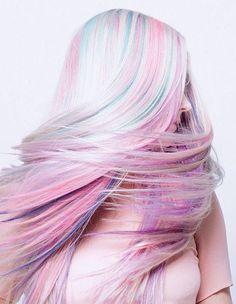 Long pastel hair