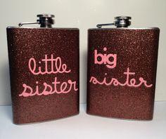 Big sister Little sister Glitter Flasks by GlitterFlasks on Etsy, $35.00