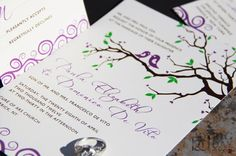 I like these invitations minus the birds. Every invite with a tree seems to include birds