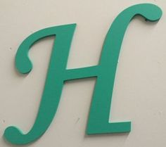 "Large Wooden Letter H | 30"" Guestbook 