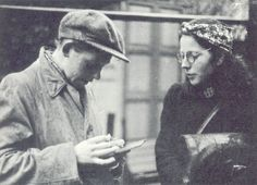 Dutch Resistance fighters Hilda Oversteegen & Hannie Schaft, circa 1943.