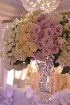 grouping the flowers together is a beautiful idea..