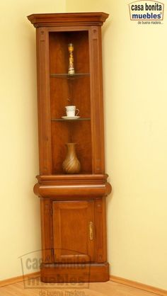 Las mejores imagenes de muebles esquineros Liquor Storage, Crockery Cabinet, Cabinet Furniture, Interior And Exterior, Living Room Decor, Kitchen Design, Bookcase, Woodworking, Shelves