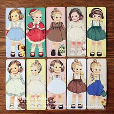 Free Shipping/Creative Kawaii Doll Bookmark Set/30 Sheets Per Set/Cartoon Book Marks BM7