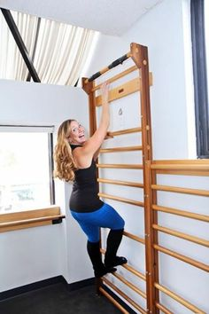 From our friends over at Bar Method Los Angeles--Don't forget to hang on the stall bar before and after class; It therapeutically stretches your back muscles, decompresses your spinal disks, and straightens your posture!