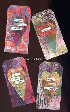 Joanna Grant Mixed Media Art: Finished Art From Gelli Plate Printed Papers
