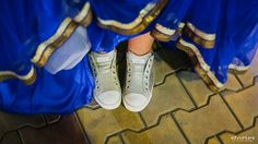 Sam has got to to be the most chilled out bride we have ever shot!we loved the sneakers under the lehenga. Happy bride sneakers fun quirky wedding shoot ideas stories blue indian wedding | Stories by Joseph Radhik